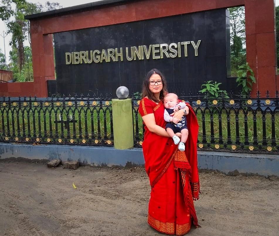 inside Dibrugarh university with my child