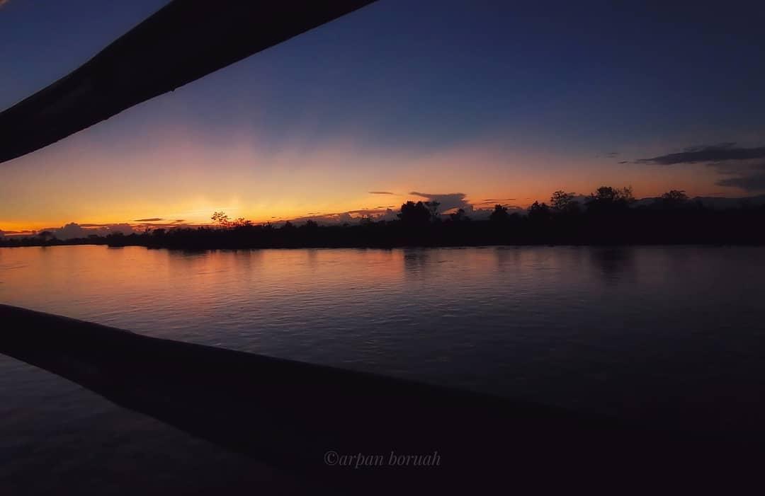 Sunset at Dibru-Saikhowa