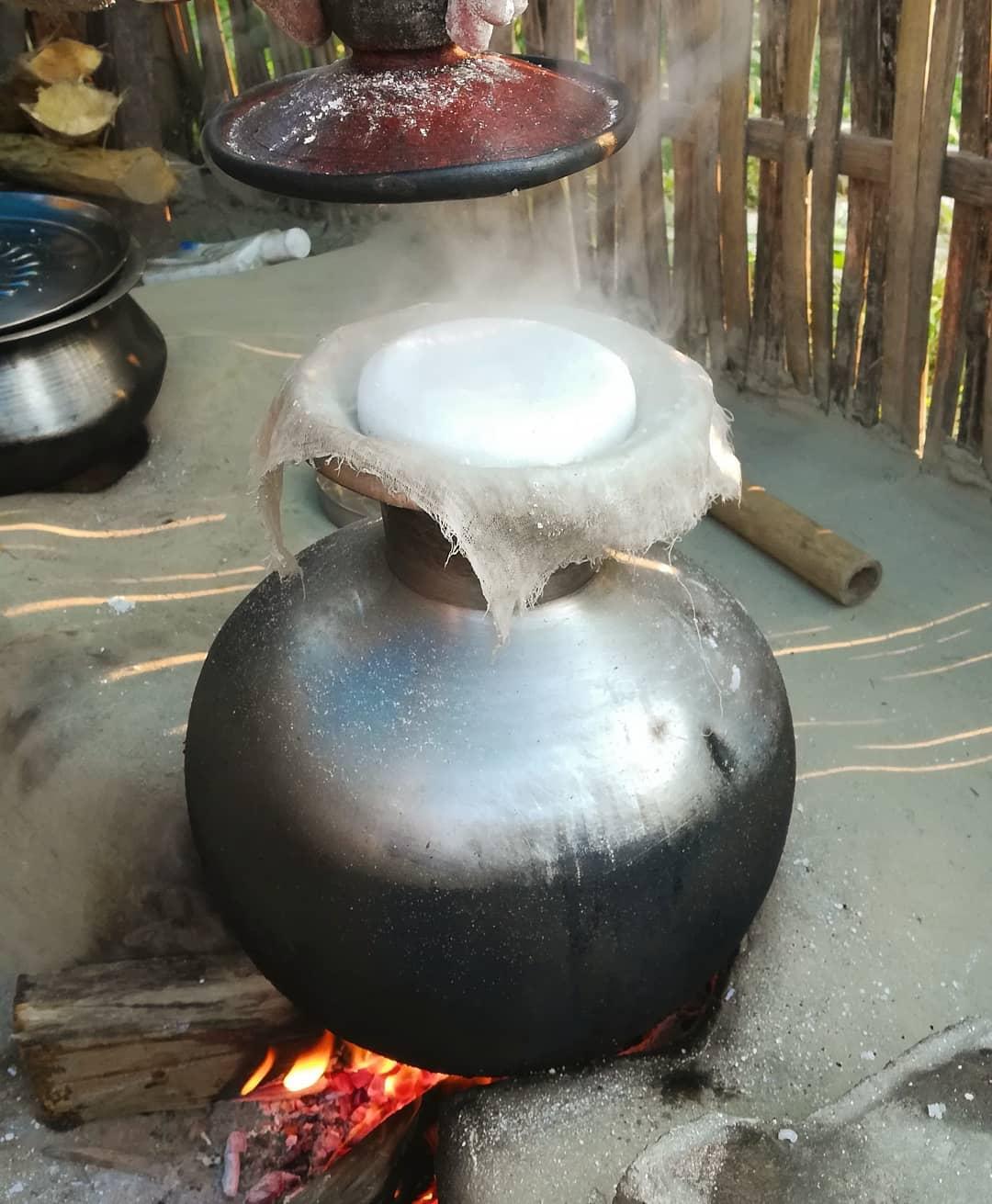 Ketli or Tekeli Pitha making process